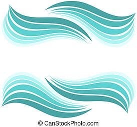 Water Waves - Water waves border. Vector illustration design