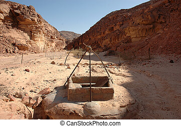 A well used to get water in the egyptian desert