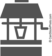 Well, water, deep icon vector image. Can also be used for gardening. Suitable for mobile apps, web apps and print media.