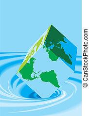 water, wereldkaart