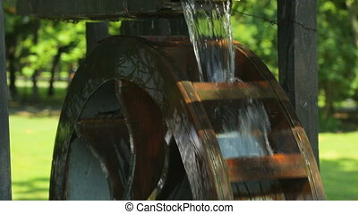 Water wheel as decoration