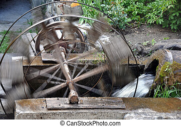 Water Wheel in the Old Mill