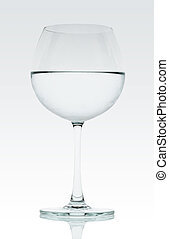 Water with wine glass