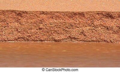water, zand, lente