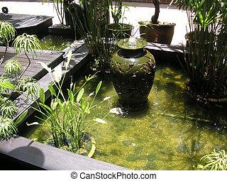 water, zen, fontijn