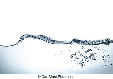 waterbellen, golven