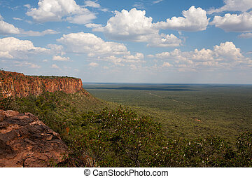 Waterberg plateau - Panorama from Waterberg National Park,...