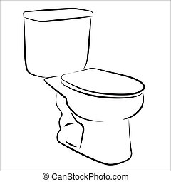 Water closet simplified sketch