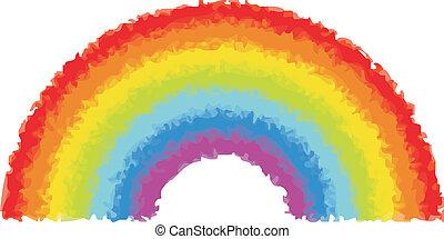 watercolor, 彩虹, 矢量