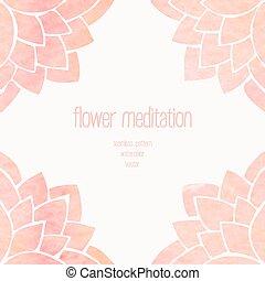 watercolor, 植物群, seamless, 背景