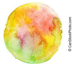 watercolor, 涂描, 摘要, 背景