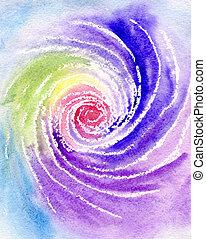 Watercolor a rainbow