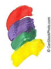 watercolor, abstract, kleuren, achtergrond