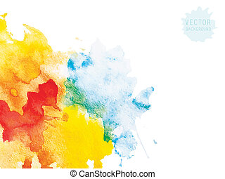 watercolor abstraction background