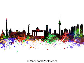 Berlin Brandenburg Gate - Watercolor art print of the ...