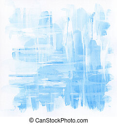 Watercolor background - Abstract blue watercolor background.