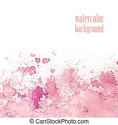 Watercolor background for layout. Vector pink splashes. eps 10