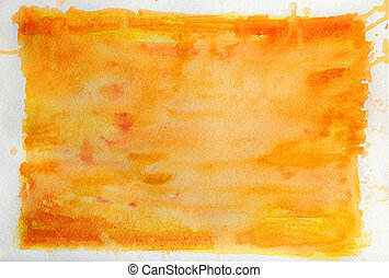 Watercolor Background in Orange