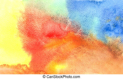 watercolor background - Watercolor background and Abstract...