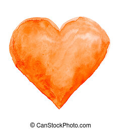 watercolor background  - Watercolor hand painted heart