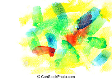 Watercolor background with copyspace - Variegated abstract...