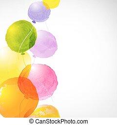 Watercolor Balloons