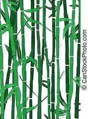 watercolor, bamboe