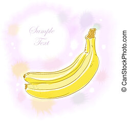 Watercolor banana