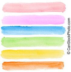 watercolor, banieren