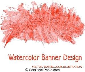 watercolor, banner