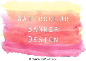 watercolor, banner, maleri, baggrund, design.