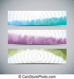 Watercolor banners