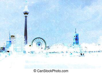 watercolor, berlin