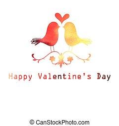 watercolor bird lovers