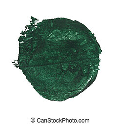 Watercolor blob - Green watercolor blob, isolated on white
