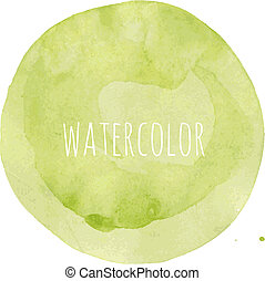 Watercolor Blob, Vector Illustration
