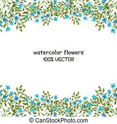 watercolor, bloemen, achtergrond