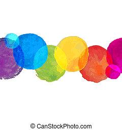 Watercolor Blot Border, Vector Illustration
