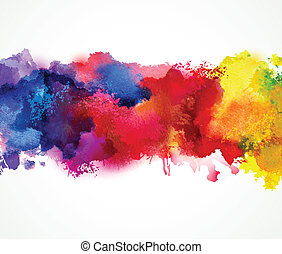 watercolor blot - Bright watercolor stains