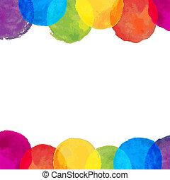 Watercolor Blot Frame, Vector Illustration