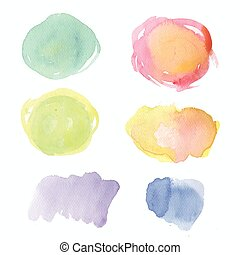 watercolor blot vector illustration