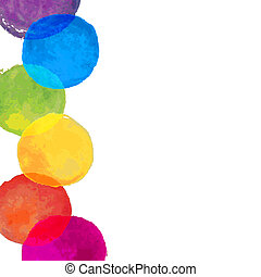 Watercolor Blots Border, Vector Illustration