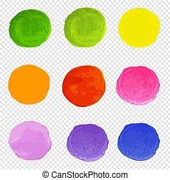 Watercolor Blots Set Transparent Background