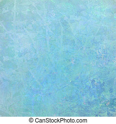 Watercolor Blue Abstract Textured Background with Text Space