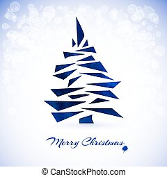 Christmas card with christmas tree
