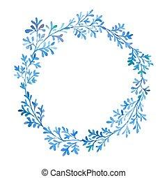 Watercolor blue flora