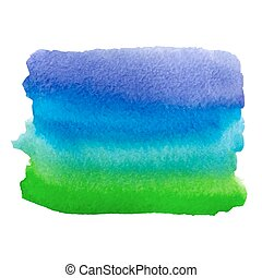 watercolor blue green paint stain