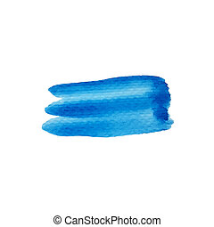 Watercolor blue stripe abstract background