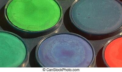 Watercolor blue tones paints