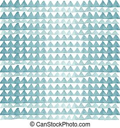 Watercolor blue triangles pattern
